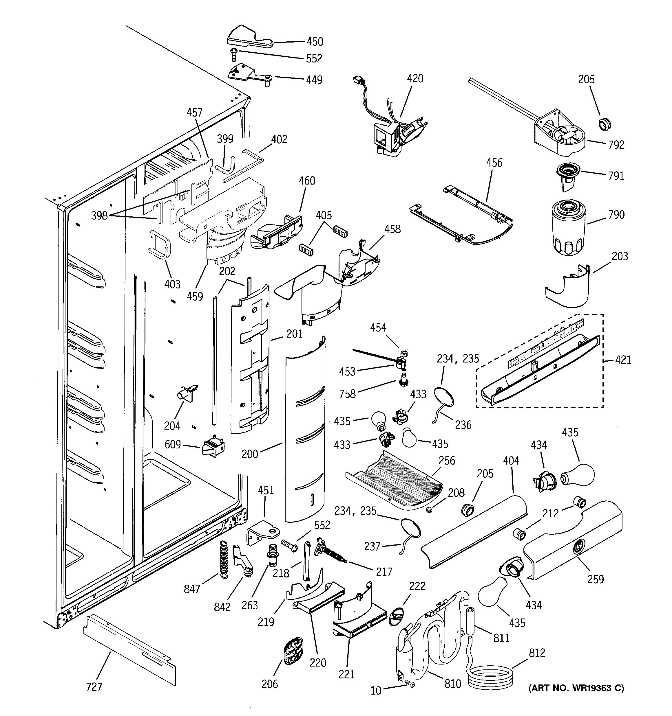 ge wr49x10091 refrigerator damper assembly