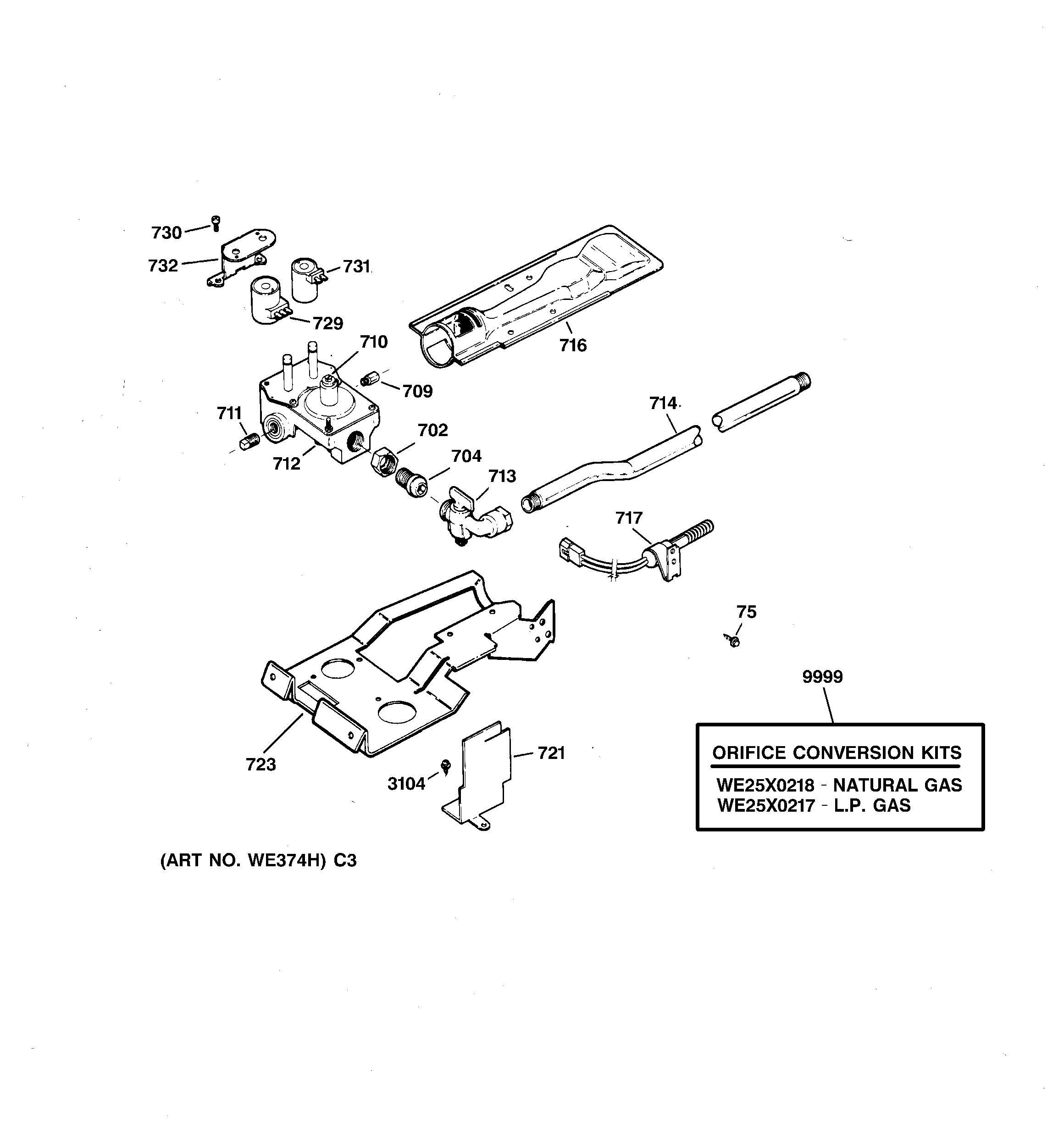 ge we4x739 dryer igniter assembly